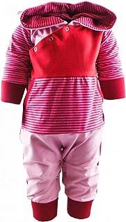KLEINER FRATZ Baby Kinder Langarm Kaputzen Overall gestreift Jungen Mädchen Hoodie Jumpsuit Kairo