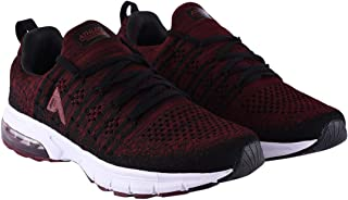 ATHLEO by Action Men's Athletic ATL-Knit Technology and Wire Cable wrap Breathable Sports Running Shoes