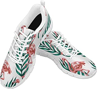 Zenzzle Womens Running Shoes Tropical Flamingo Pattern Women's Casual Lightweight Athletic Walking Sneakers Size 6-12