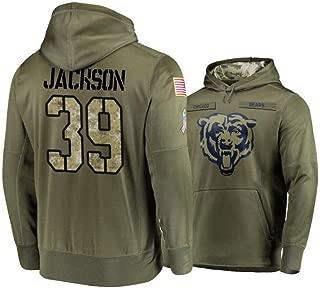 Littlearth Men's Chicago Bears #39 Eddie Jackson Salute to Service Hoodie - Olive Men L
