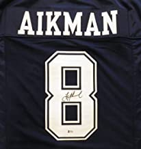Dallas Cowboys Troy Aikman Autographed Blue Jersey Beckett BAS