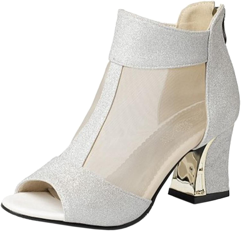 AicciAizzi Women Fashion Summer Short Boots