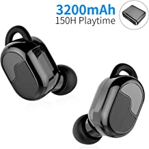 Wireless Earbuds Bluetooth 5.0 True Wireless Bluetooth Headphone with 3200mAh Charging Case Sport TWS in-Ear 150H Playtime Stereo Headset Auto Pairing Built-in Mic CVC 8.0 Deep Bass Earbuds,Black