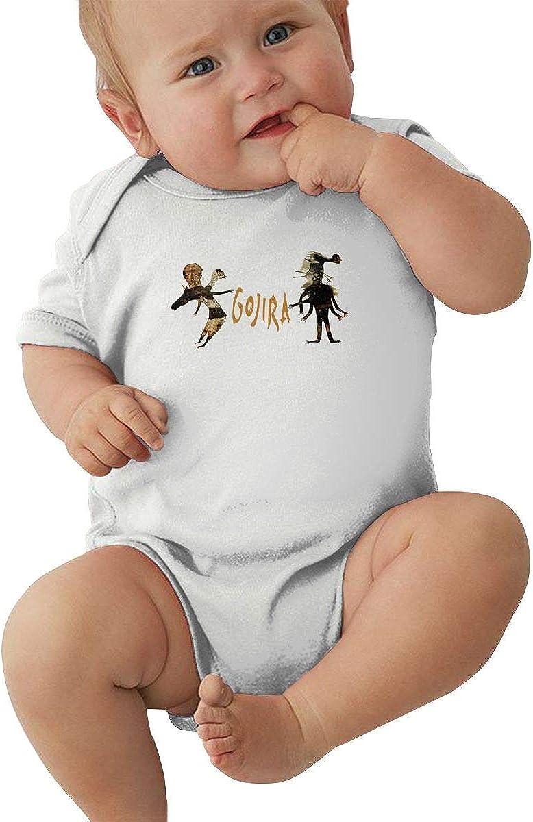 Lemonationob Baby Bodysuit Gojira Music Band Infant Short Sleeve Baby Clothes Boys Girls 0-24 Month