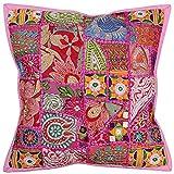 Vintage Hippie Stickerei Arbeit handgefertigte Kissenbezug Kissenbezug, Kissen einfügen, indische...