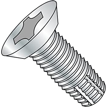 Type F Pack of 100 7//8 Length Zinc Plated Finish Small Parts 0414FPP Pan Head Pack of 100 #4-40 Thread Size 7//8 Length Steel Thread Cutting Screw Phillips Drive