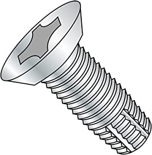 #8-32 Thread Size 82 Degree Flat Head Pack of 7000 Type F Phillips Drive Steel Thread Cutting Screw Zinc Plated 1 Length