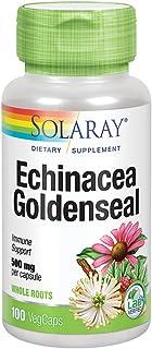 Solaray Echinacea Root & Goldenseal Root 500mg | Healthy Immune & Respiratory System Support | Non-GMO, Vegan & Lab Verifi...