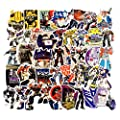 50Pcs The Transformers Optimus Prime Stickers for Water Bottle Cup Laptop Guitar Car Motorcycle Bike Skateboard Luggage Box Vinyl Waterproof Graffiti Patches WJ