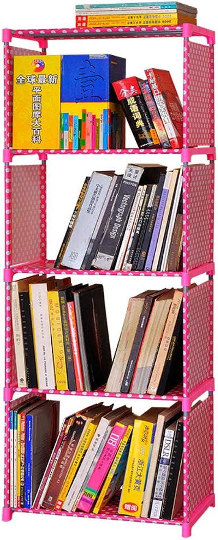 Storage Bookcase Shelf 4-Cube 4-Tier Open Bookshelf Organizer Display Rack Closet for Home Office-C