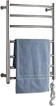 WHZWH Electric Towel Heater, Wall-Mounted Towel Drying Bar, Stainless Steel Heated Bath Towel Rack, IP56 Waterproof, Hardwired and Plug in Options, for Bathroom, Sauna, Spa,Darkline