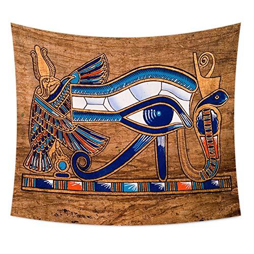 Lambert egipcio Anubis pared Alfombra Antiguo Dios Sol Ojo pared colgantes tapiz tradicional ethnisch Icono pared de pared toalla Tribu Multicolor glaube pared mandala cortina 59*51in multicolor