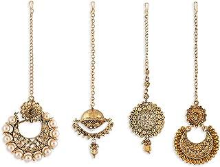مجوهرات الشعر للنساء من زافيري بيرلز (ذهبي) (ZPFK6262)