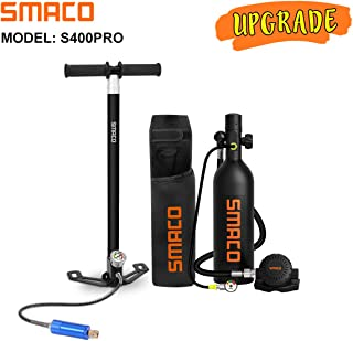 SMACO Scuba Tank Diving Gear for Diver Mini Scuba Tank Oxygen Cylinder with 15-20 Minutes Capability Diving Oxygen Underwa...