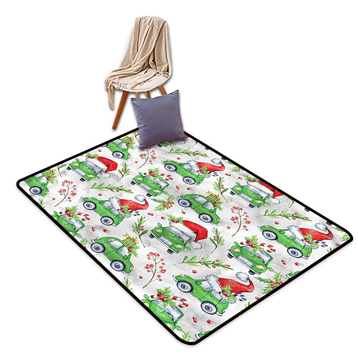 Classroom Rug,Cars Noel New Year Inspired,Ideal Gift for Children,4'7
