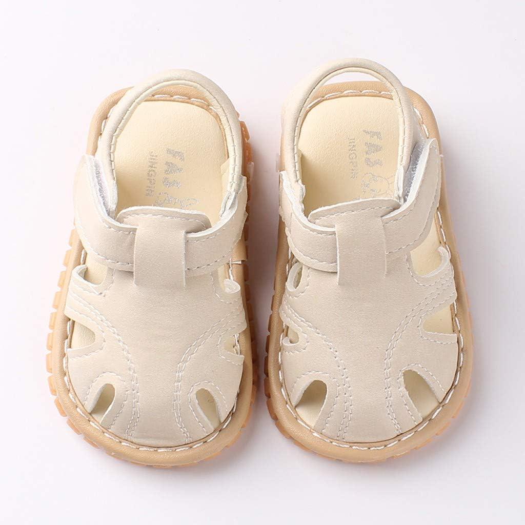 Unisexe B/éb/é Chaussures en Cuir PU Anti-Slip Bout Ferm/é Sandales D/ét/é Casual Casual Walkers Princesse Chaussures Habill/ées