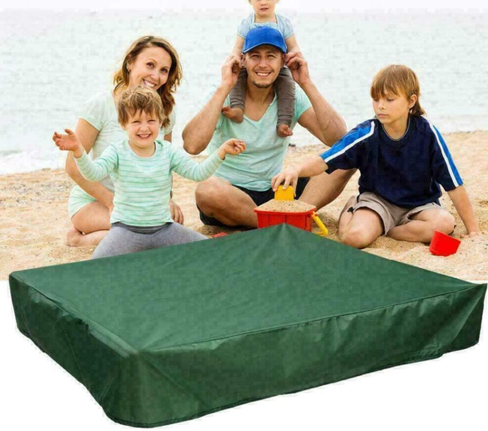 Oxford Waterproof Sandpit Covers with Drawstring Dust UV Protection Beach Sandbox Cover Canopy for Home Garden Outdoor Pool Toys /& Furniture,Black//120 Yontree Square Sandbox Cover 120cm