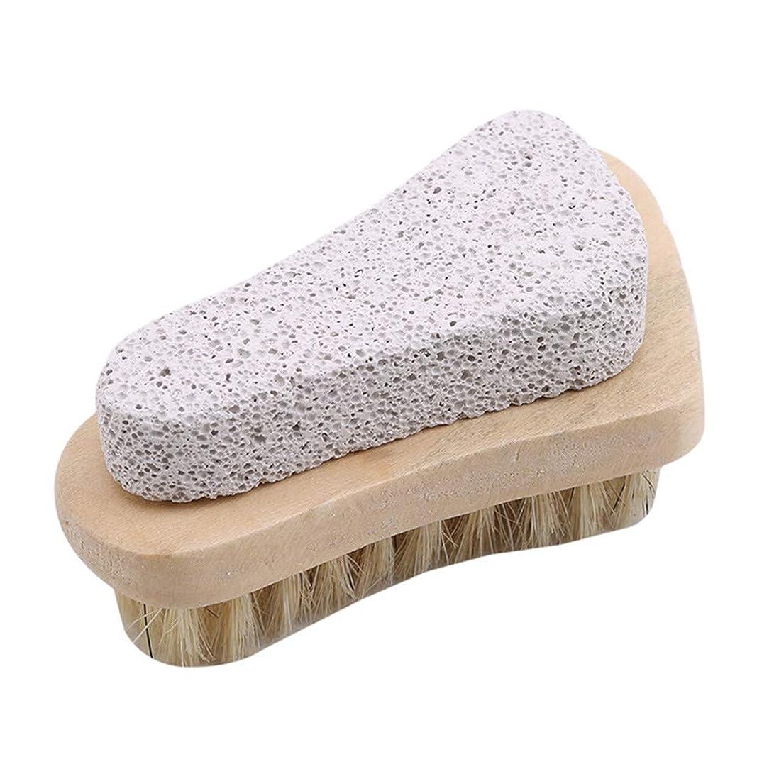 暴力的な混乱分離Cngstar 木の 足のタイプ 豚コレラ 軽石ブラシ 足を洗う ラメ 角質除去 パパ 剛毛ブラシ ? 軽石ブラシ