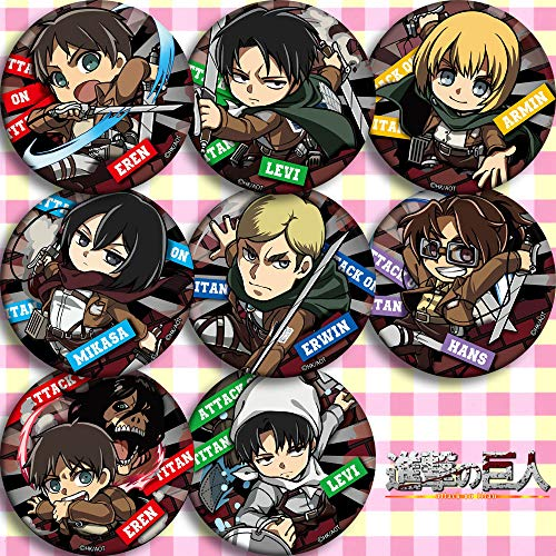 8 PCS Attack ON Titans Button Set Attack ON Titans button pin Pins Attack ON Titans Button badge (Attack ON Titans Button Set B)