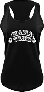 Ladies Mama Tried Cute Country Music Southern Rebel Shirt Racerback