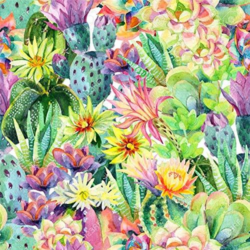 5D Pintura Diamante Painting Kit DIY Taladro Completoflor de cactus Hada Adultos Niño Punto Cruz Cuadro Grande Puzzle Rhinestone Bordado Art Home Pared Decor Manualidades 90x90cm