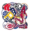 Baseball Team Fans Logo Stickers MLB Major League Baseball All 30 Teams Collection Waterproof Vinyl Sticker Include Twins and Brewers for Hydro Flasks Laptops Water Bottle Skateboard 30 Pack