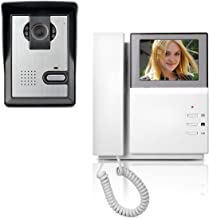 AMOCAM Video Door Phone System, 4.3 Inches Clear LCD Monitor Wired Video Intercom..