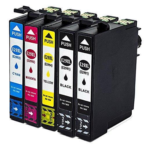 Ouguan - Cartuchos de tinta de repuesto para Epson 29 29XL compatibles con Epson Expression Home XP-245 XP-342 XP-442 XP-235 XP-432 XP-332 XP-335 XP-435 XP-247 XP-445 XP-345