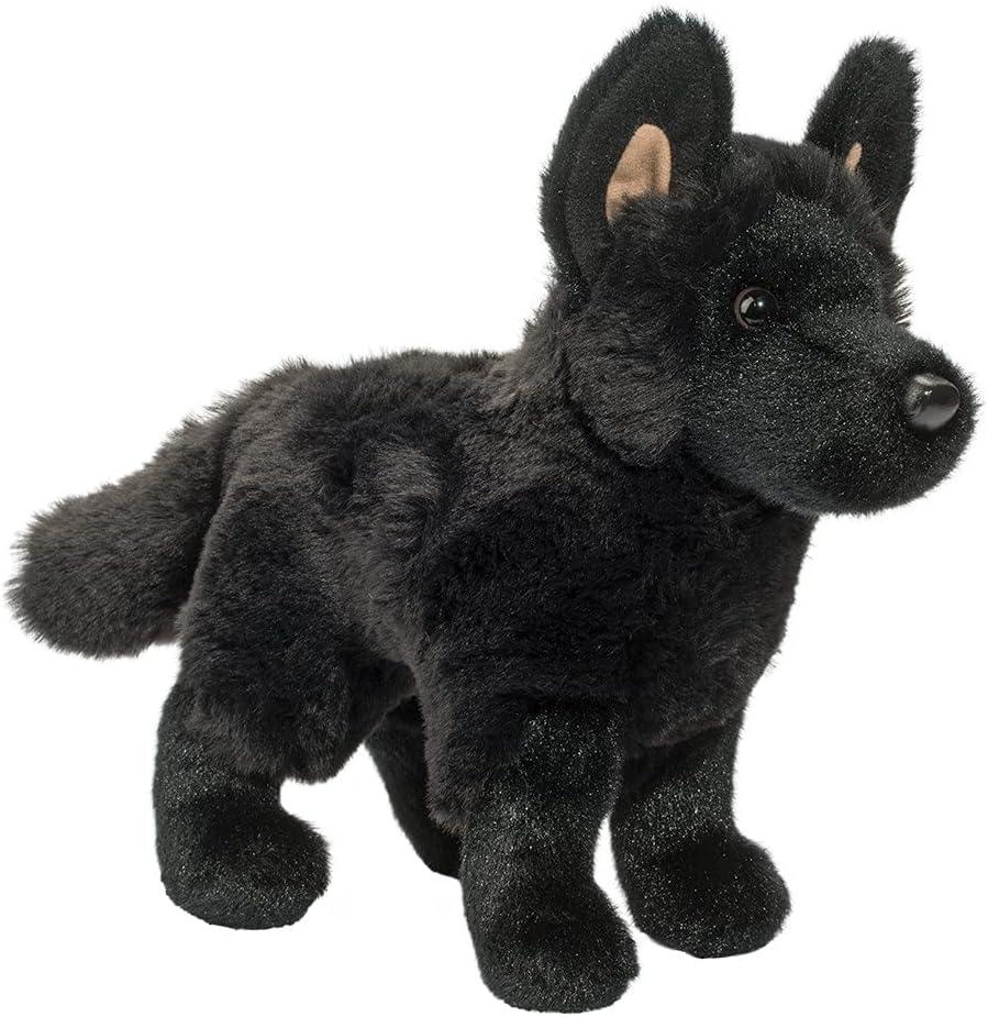 Douglas Award-winning store Harko Super special price Black German Shepherd Dog Plush Animal Stuffed