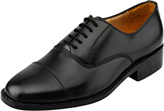 Captoe Oxford Goodyear Welted Formal Handmade Leather Dress Shoes