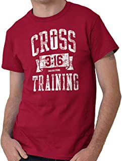 Cross Training Christian Religious Lord God T Shirt Tee