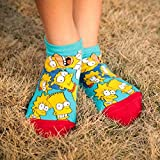 Amelia Isaiah Fabelhafte New The Simpsons Muster Baumwolle niedliche Socken Frauen 3D Cartoon Socken Mode Flachm&-Socken Einheitsgröße H04