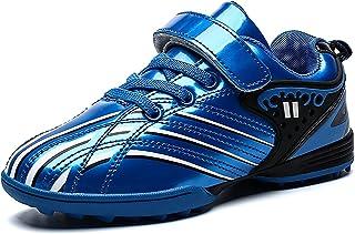 Saekeke Football Enfants en Cuir Lisse Coloré TF Chaussures de Football Légères Garçons Filles Chaussures D'entraînement e...