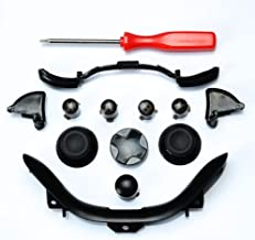 massmall Custom Mod Kit for Xbox 360 Controller Thumbsticks, Dpad, RB LB, ABXY, Trim, Triggers, Guide, T8 Security Driver Black