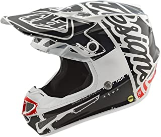 Troy Lee Designs SE4 Polyacrylite Factory Motocross Motorcycle Lightweight Helmet 2018 Model with EPS MIPS exceeds DOT Kids Youth Large White/Black