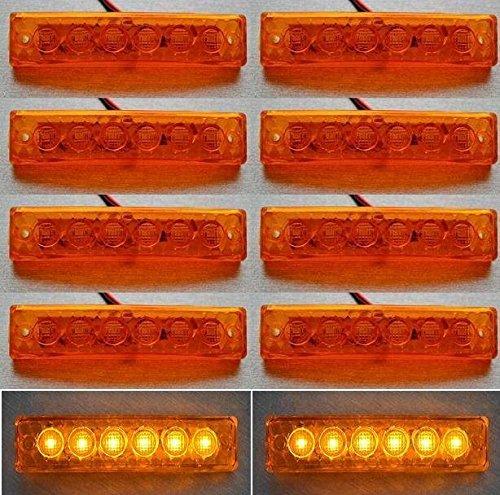 24/7Auto L0059 Lot De 10 Marqueur Contour Latéraux À Led 24 V Led Châssis Camion Remorque Caravane Orange
