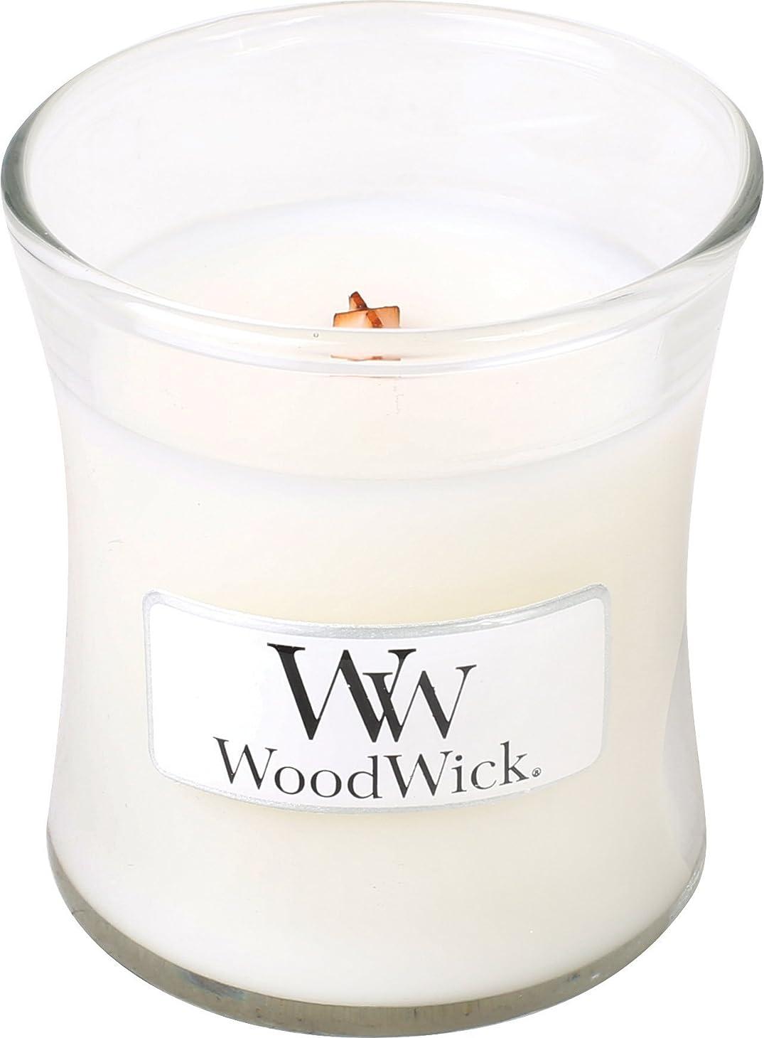 十代の若者たち修理可能独立してWood Wick ウッドウィック ジャーキャンドルSサイズ ホワイトティージャスミン