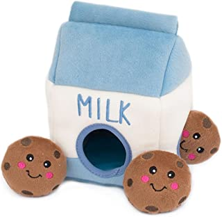 ZippyPaws Food Buddies Burrow, Interactive Squeaky Hide and Seek Plush Dog Toy