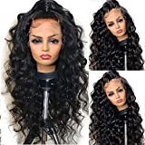Fureya Wigs for Black Women Glueless Lace Front Wigs with Baby Hair Long Loose Wave Heat Resistant Fiber Synthetic Lace Wigs 24 inch