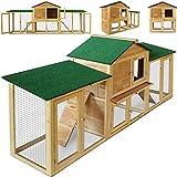 Deuba Cadoca Kaninchenstall Hasenstall Hase Kaninchen Stall Käfig Kleintierstall Freilauf Garten XXL