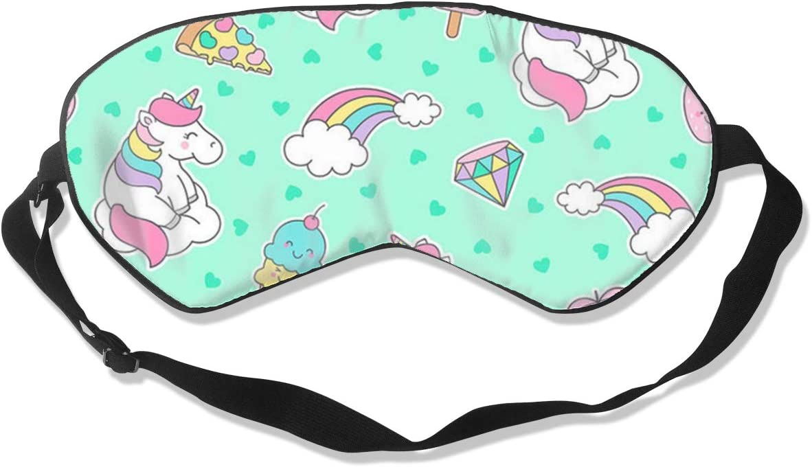 Cute Pastel Unicorn Rainbow and Sleeping Super special price Eye Mask OFFicial site Dessert