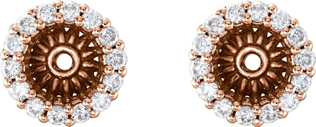Diamond Cluster Earring Jackets, 14k Rose Gold (6.1 MM) (0.2 Ctw, G-H Color, I2 Clarity)