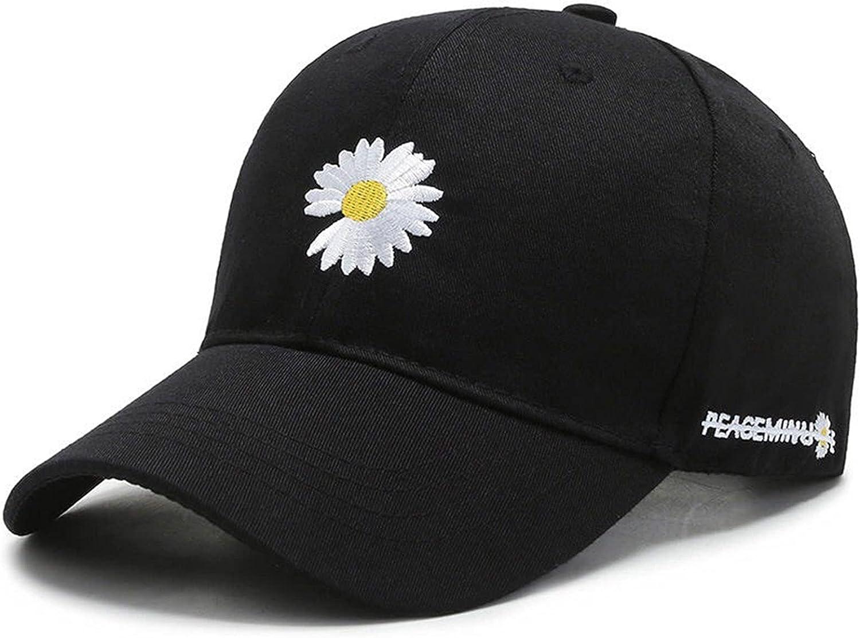 OAKSTOY Daisy Embroidery Baseball caps, Unisex Baseball Hat Adjustable Distressed Blessed Hat Washable Denim Sun Hats