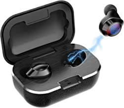 True Wireless Earbuds Touch Control V5.0 Wireless Bluetooth Earphones with Deep Bass 28-Hour Playtime Waterproof TWS Stere...
