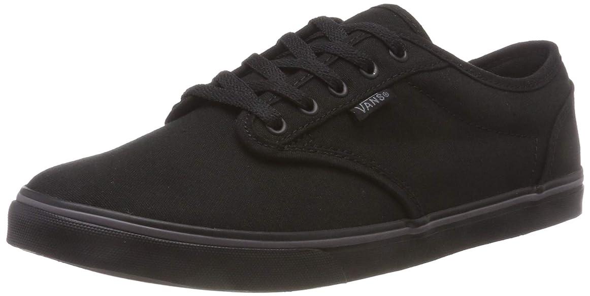 登山家野望腫瘍Vans Womens Atwood Low Top Lace Up Canvas Skateboarding Shoes, Black, Size 8