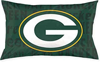 Marrytiny Custom Rectangular Pillowcase Colorful Green Bay Packers American Football Team Bedding Pillow Covers Pillow Cases for Home Couch Sofa Bedding Decorative - 20x30 Inches
