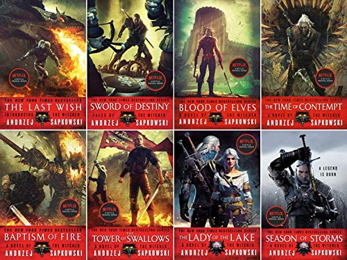 Witcher Books Complete Set (8 Books)