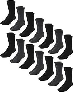 Van Heusen Men's Stretch Comfort Solid Dress Socks With Reinforced Heel And Toe (14 Pack)