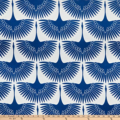 EXCLUSIVE Genevieve Gorder Outdoor Flock Classic Blue Fabric by the Yard