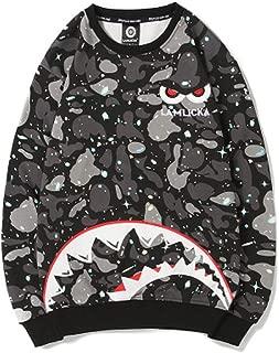Shark Camouflage Bape Men's Casual Round Neck Long Sleeve Loose Sweatshirt